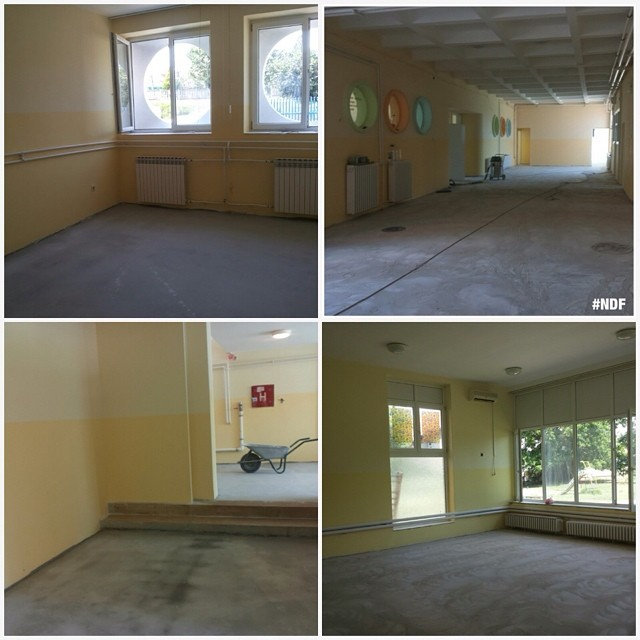 Also, see the works on kindergarten Galeb in Petrovac na Mlavi, kids are going to be so happy here, again! ? #donations #reconstructions #supportserbia #NDFteam #happy #petrovacnamlavi #serbia