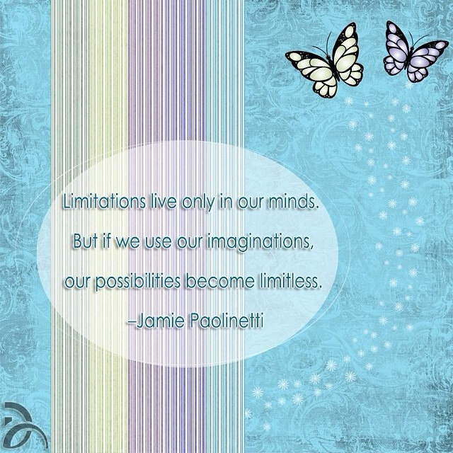 Use your imagination and possibilities are limitless... #NDFquote #NDF #motivation