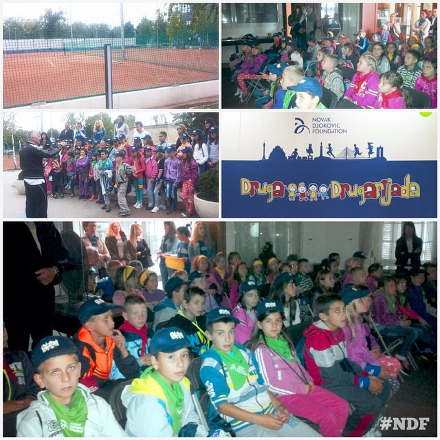 Today's activities included a visit to #NikolaTesla museum and a tennis lessons at Novak Tennis Center, then lunch and off to more adventures! Stay tunned for more updates ? #FriendshipGames #Drugarijada #NDF #NDFteam #happiness #children #learnandplay