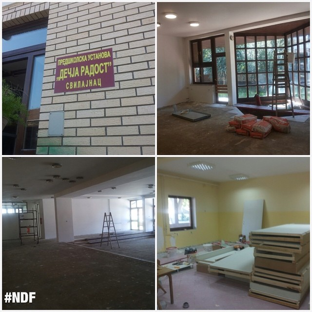 The works on the kindergarten Dečja Radost in Svilajnac are almost done, thanks to your donations! ? #reconstructions #SupportSerbia #Svilajnac #happy #NDFteam #NDF #thankyou