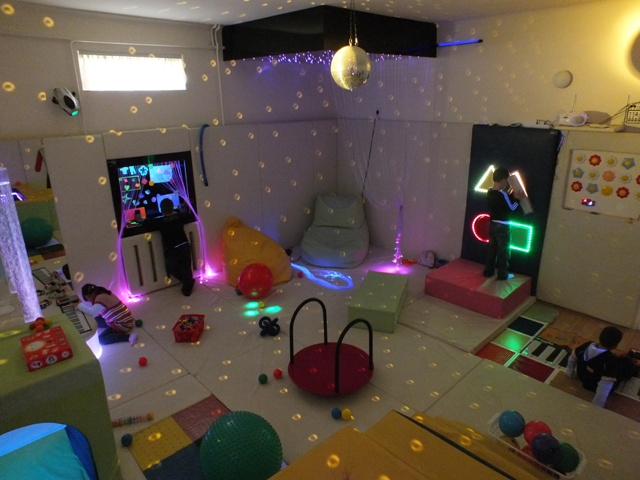 Sensory integration and therapy in sensory room