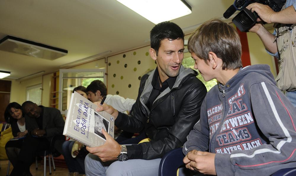 Novak Djokovic poseta Zvecanskoj