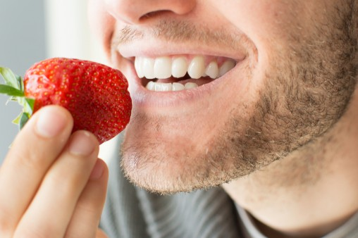 man-eating-strawberry