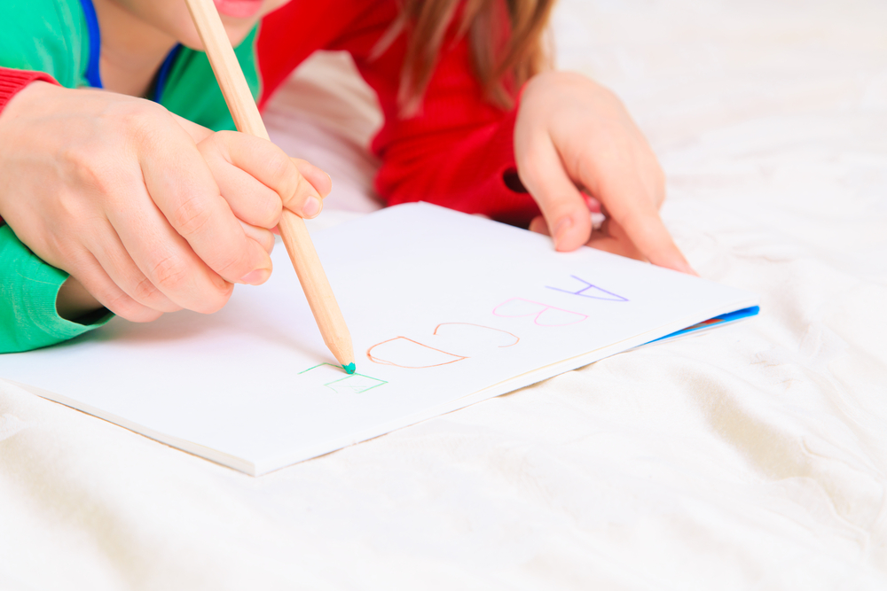 mother-and-child-writing-letters