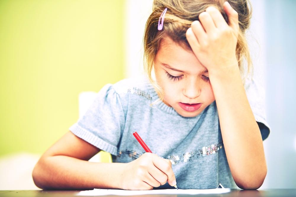 Little-girl-is-doing-homework