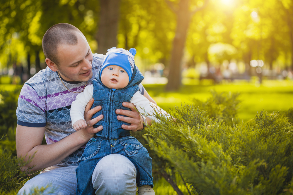 father-and-baby-are-playing-in-the-park
