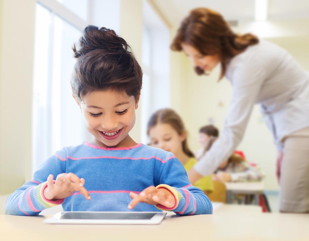 girl-using-tablet-in-school