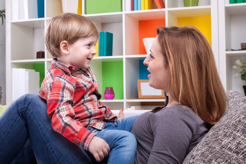 little-boy-and-his-mom-talking