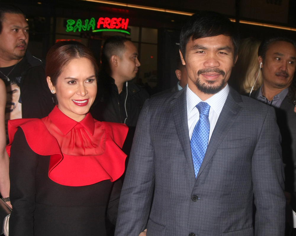 Manny Pacquiao and wife