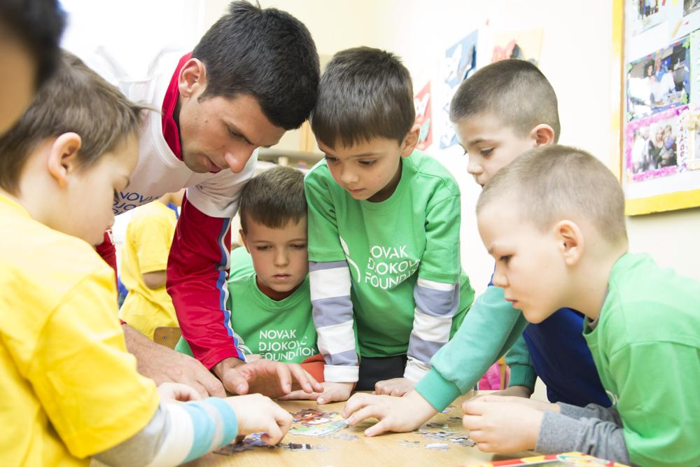 Novak visiting School of Life in Sirca