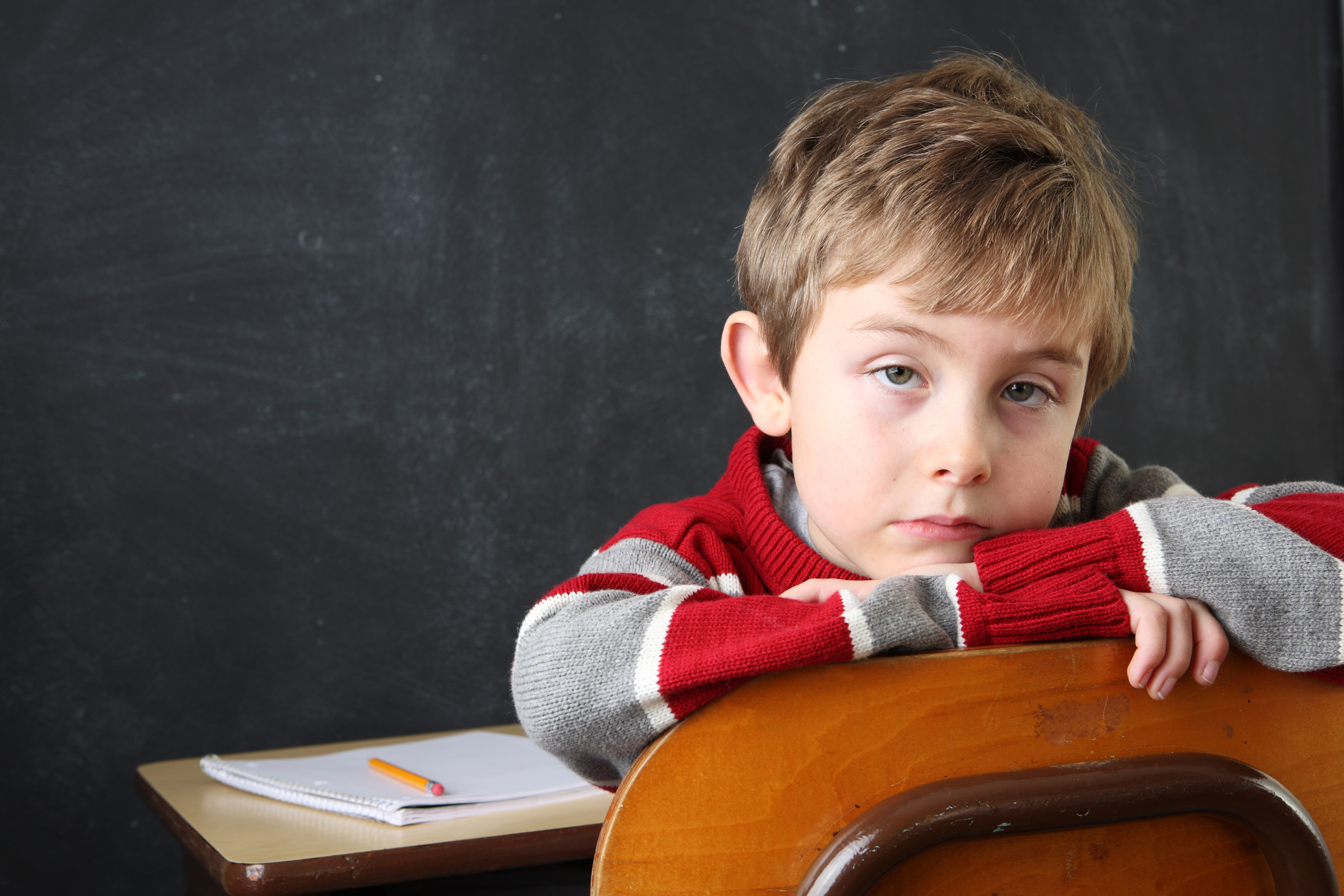 serious-student-resting-his-head-on-the-back-of-his-chair