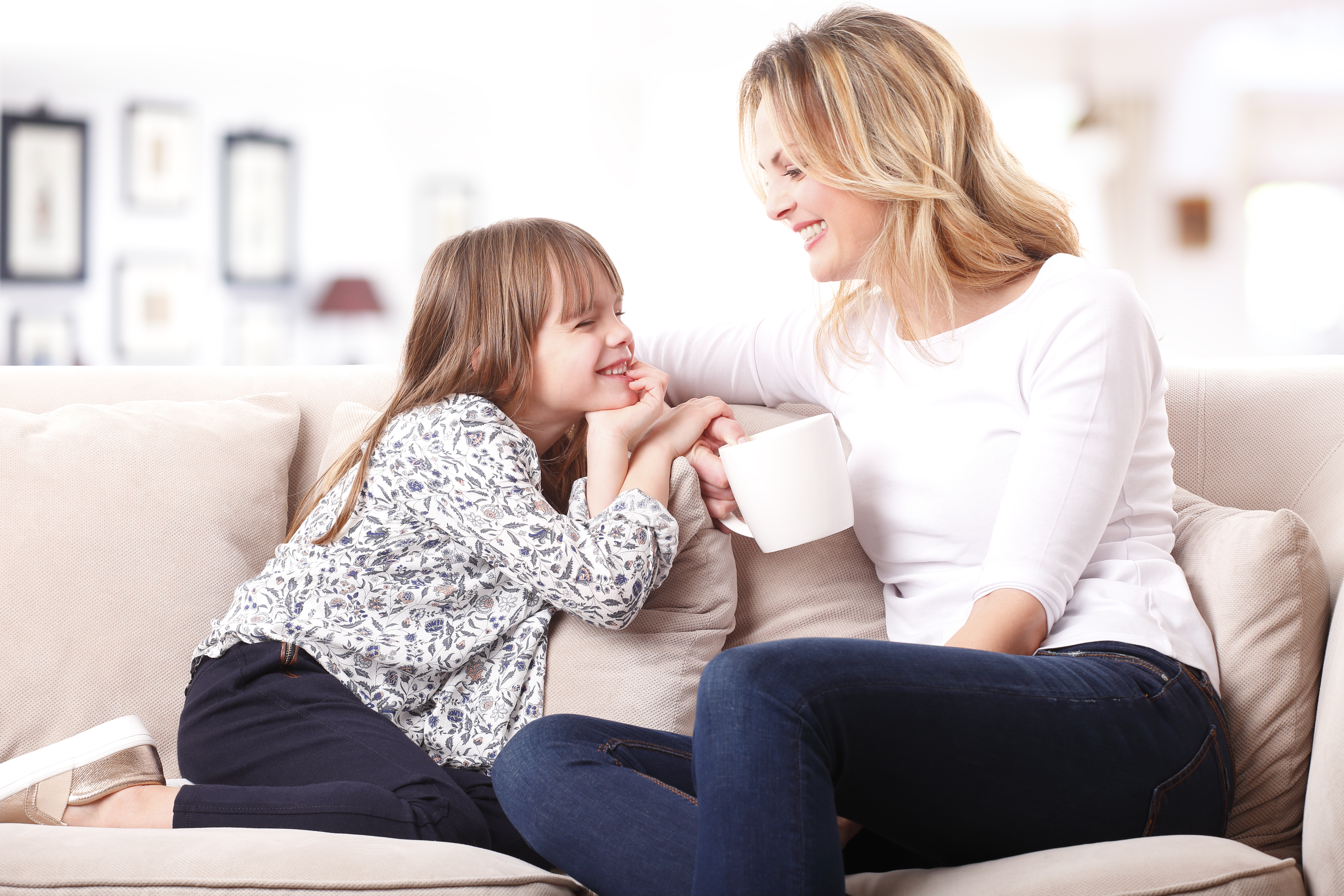If you want them to listen to you when you talk to children, you should also listen to them when they speak to you, and even more importantly - participate in the conversation. Copyright: Kinga