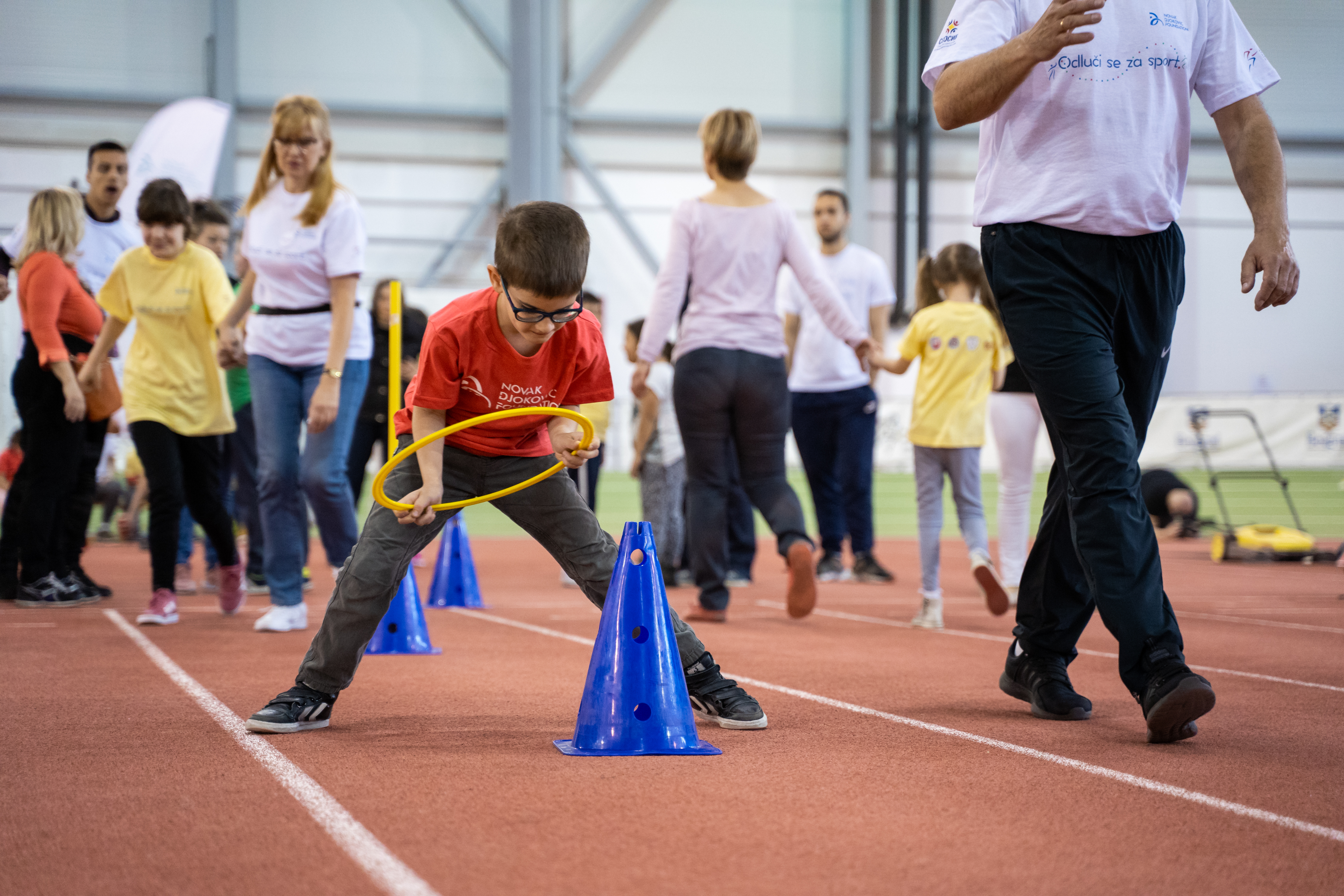Pored ukazivanja na značaj bavljenja sportom i fizičkom aktivnošću, ideja ovog okupljanja bila je i da mališani nauče kako da budu deo tima, kako da pobede i poštuju protivnika.
