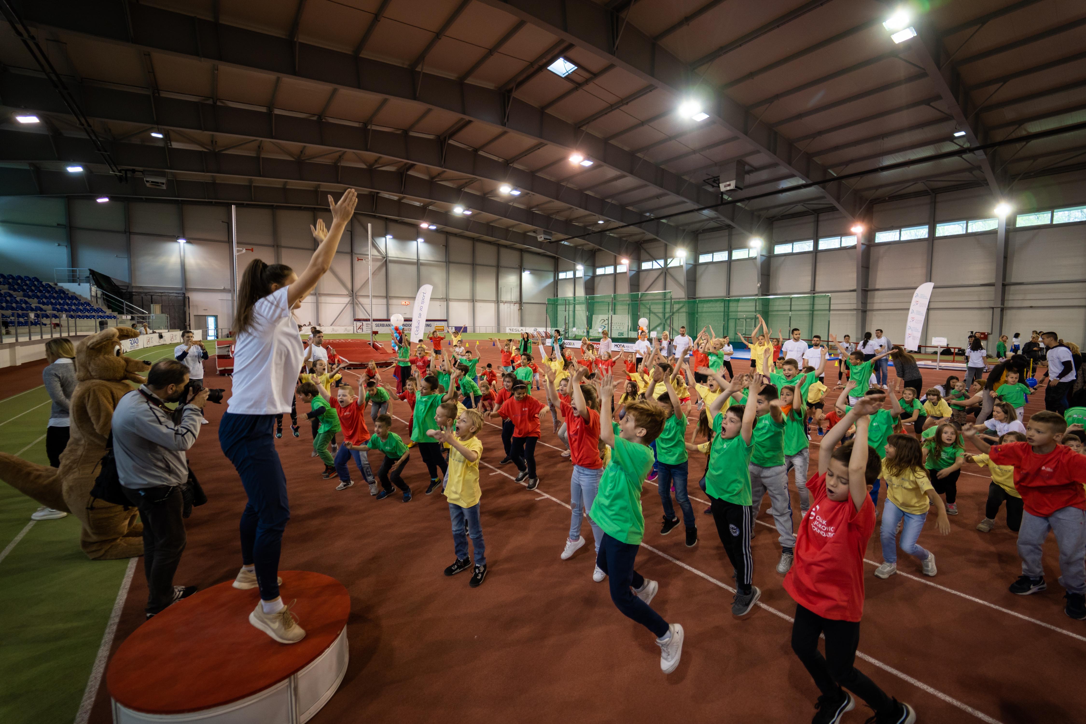 More than 150 children enjoyed various sports activityes.