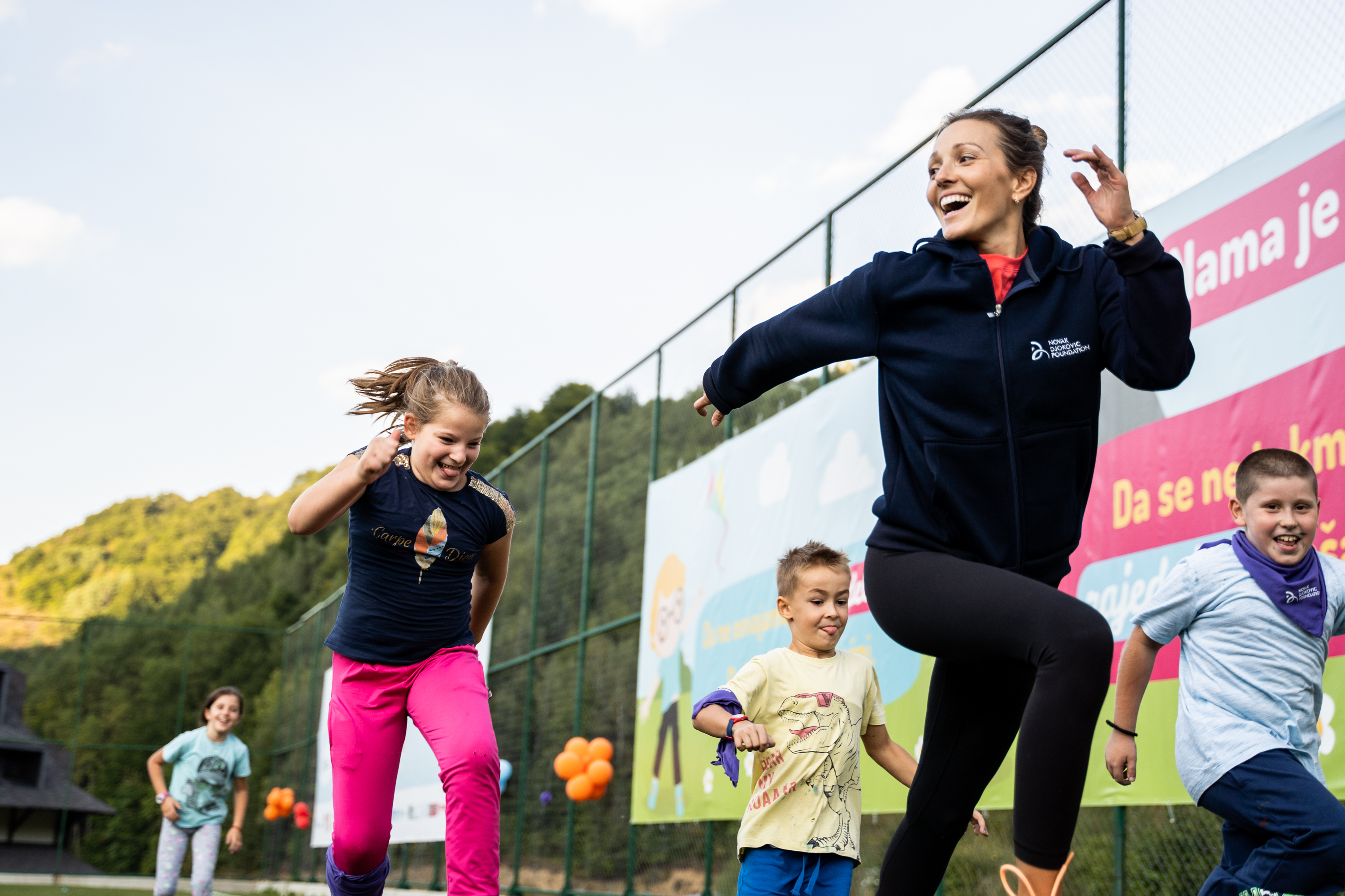 Our founders, Novak and Jelena Djokovic opened the Friendship Games and joined children in their activities.