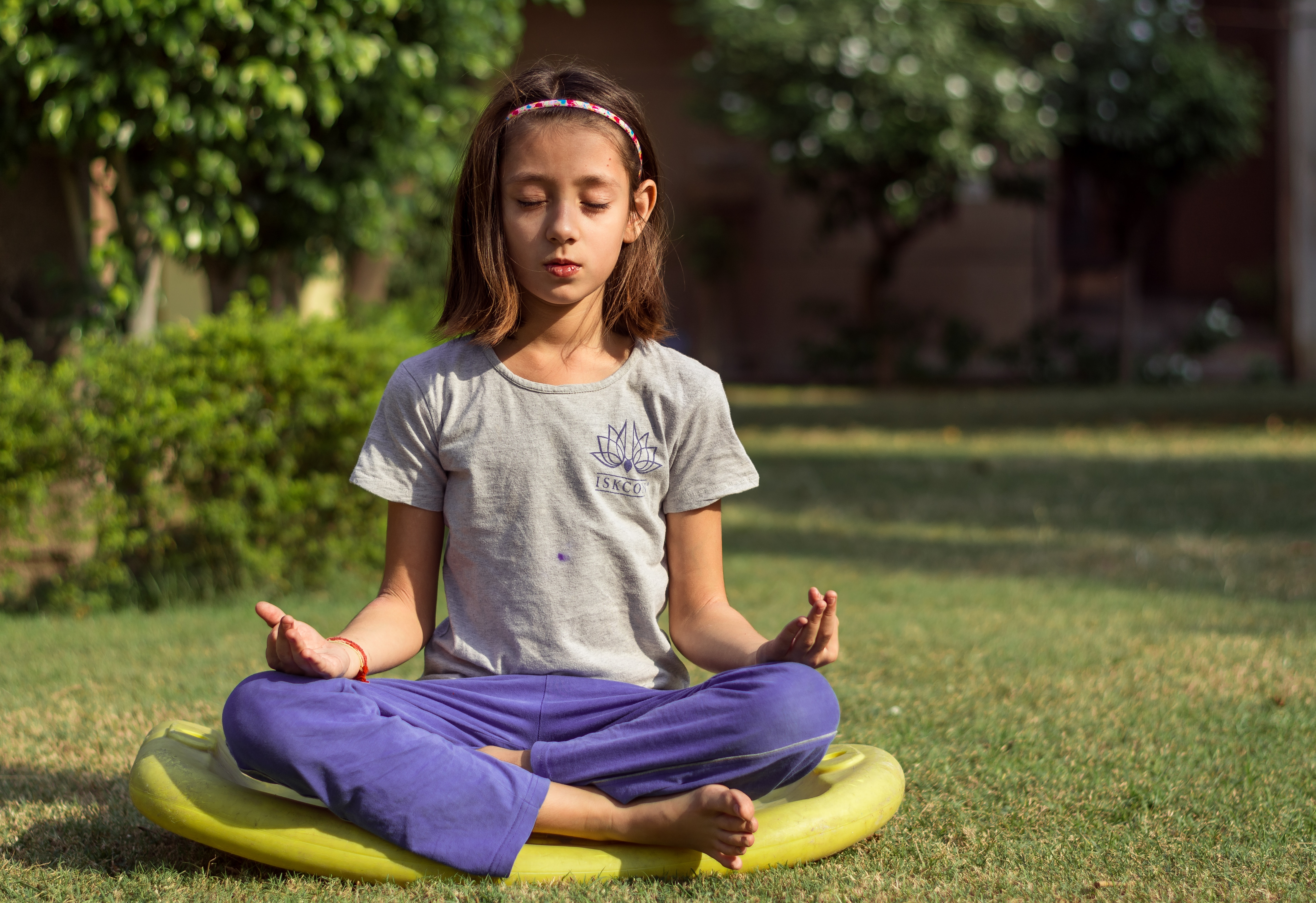Meditation is very beneficial for a child's mental health.
