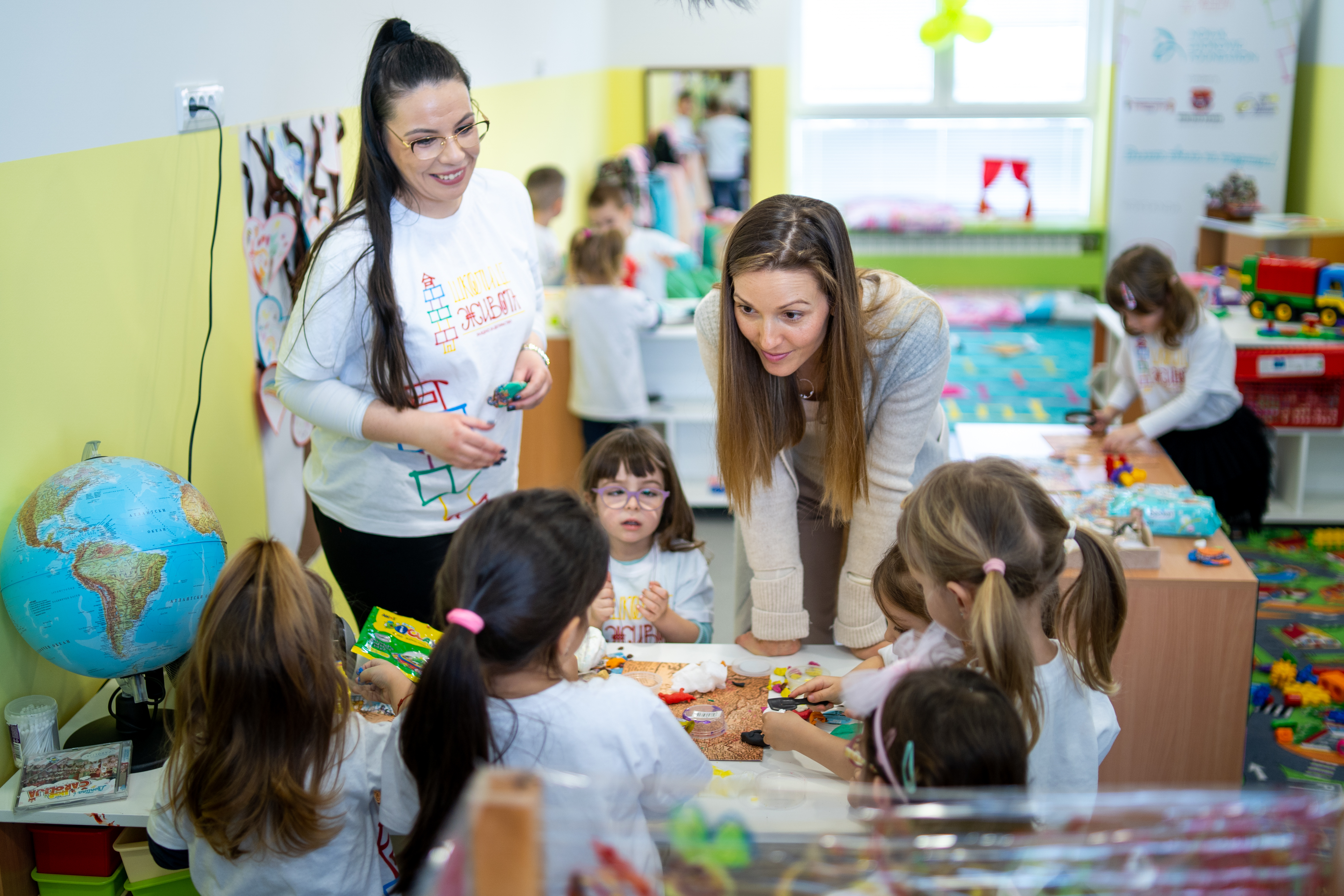 The job of a preschool teacher involves four elements of love: care, responsibility, respect and bond.