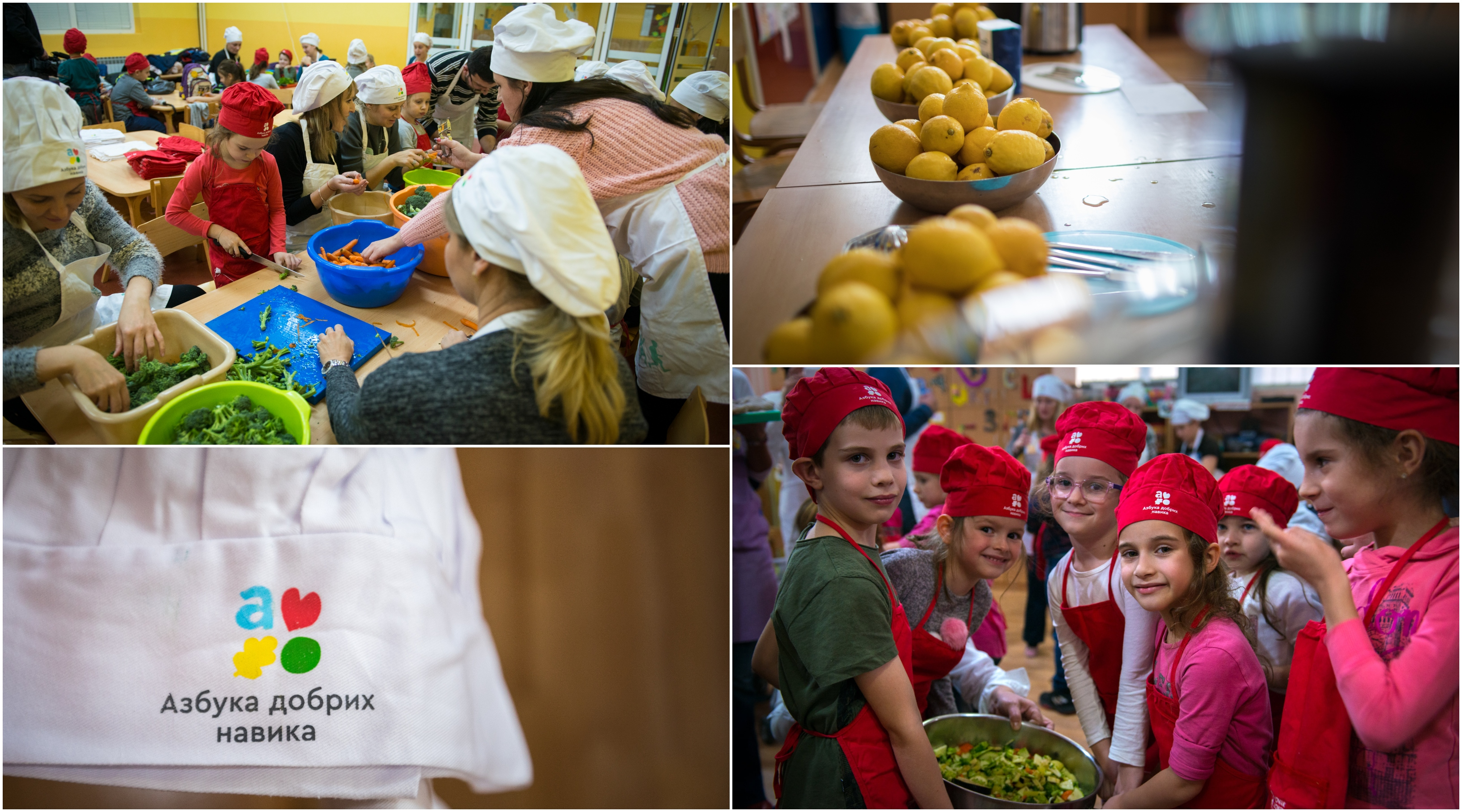 """Good Gardens"" are established according to the principles of organic production, so that the fruits are eventually used during culinary workshops that we organize for parents, educators and children"