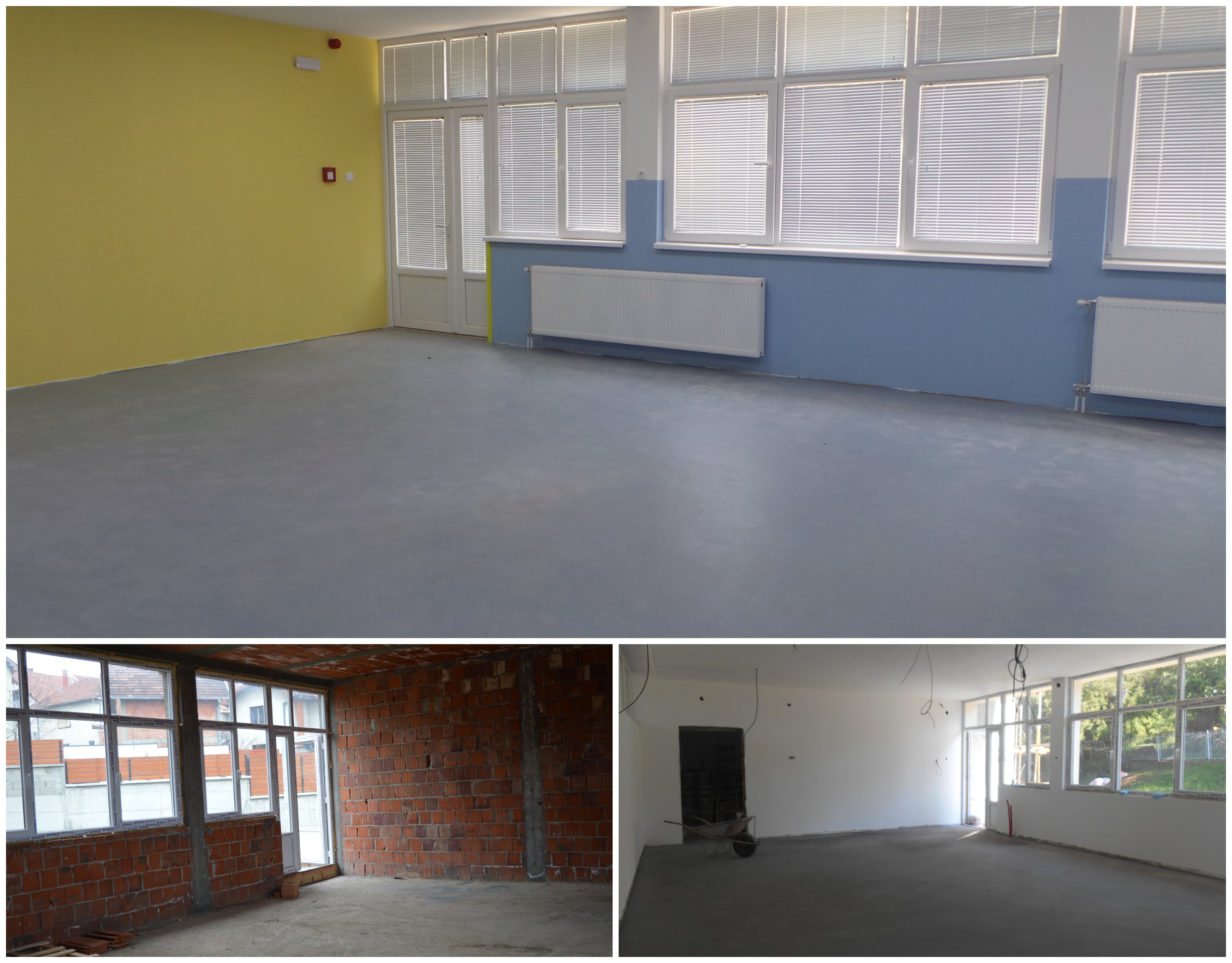 We can't wait to fill this space with new furniture and didactic material.