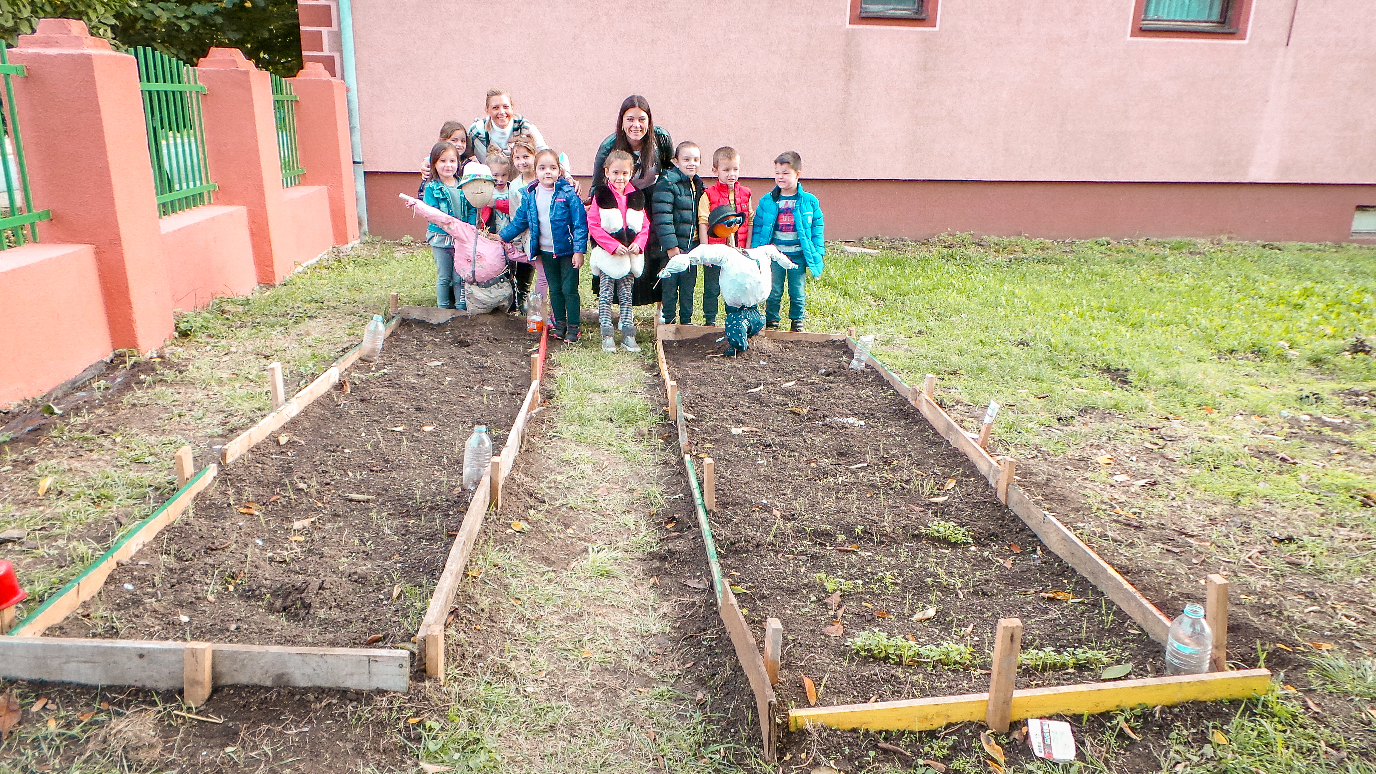 Children from Ljukovo proudly showed Dragana their preschool garden where they grow their own fruits and vegetables with the help of their teachers.