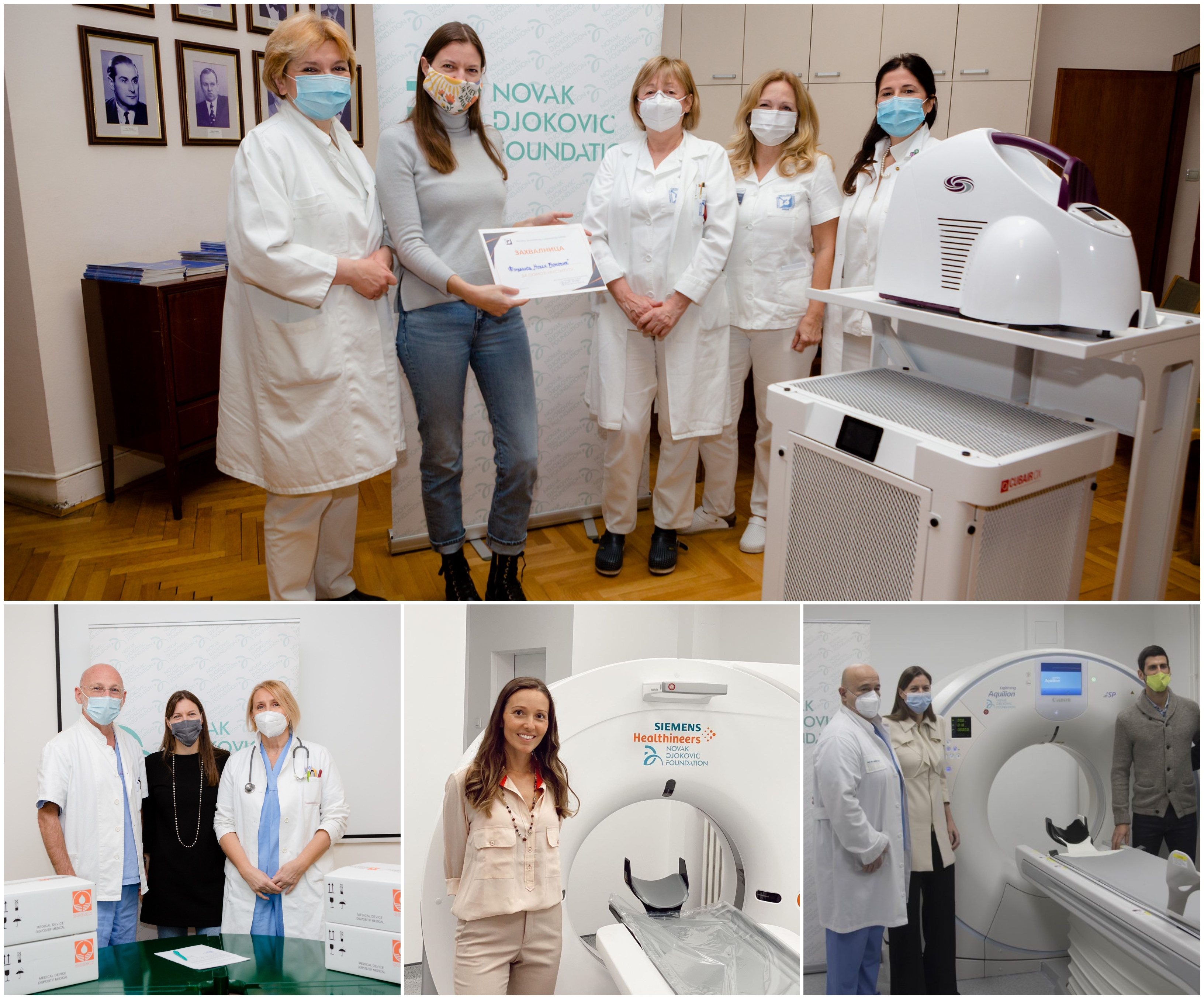 World Health Day: Novak Djokovic Foundation's support of Serbia's health system in its fight against COVID-19.