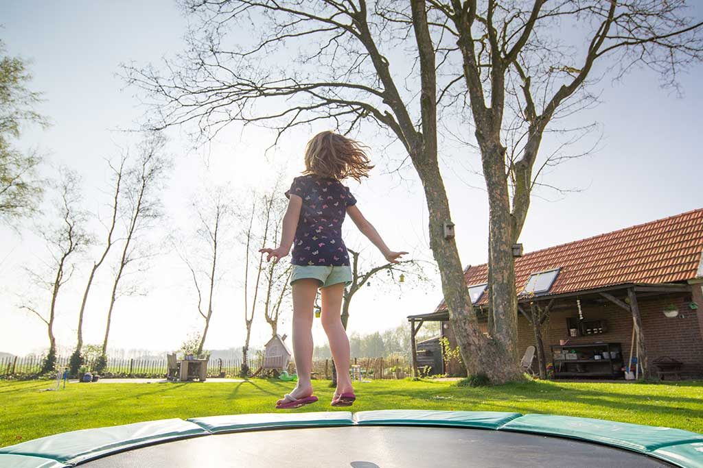 A backyard trampoline is something special since it assures multiple benefits for the children whenever they jump on it.