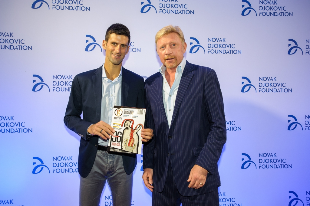 "Spectacular lecture of Boris Becker launches the ""Original"" magazine Novak Djokovic Foundation"