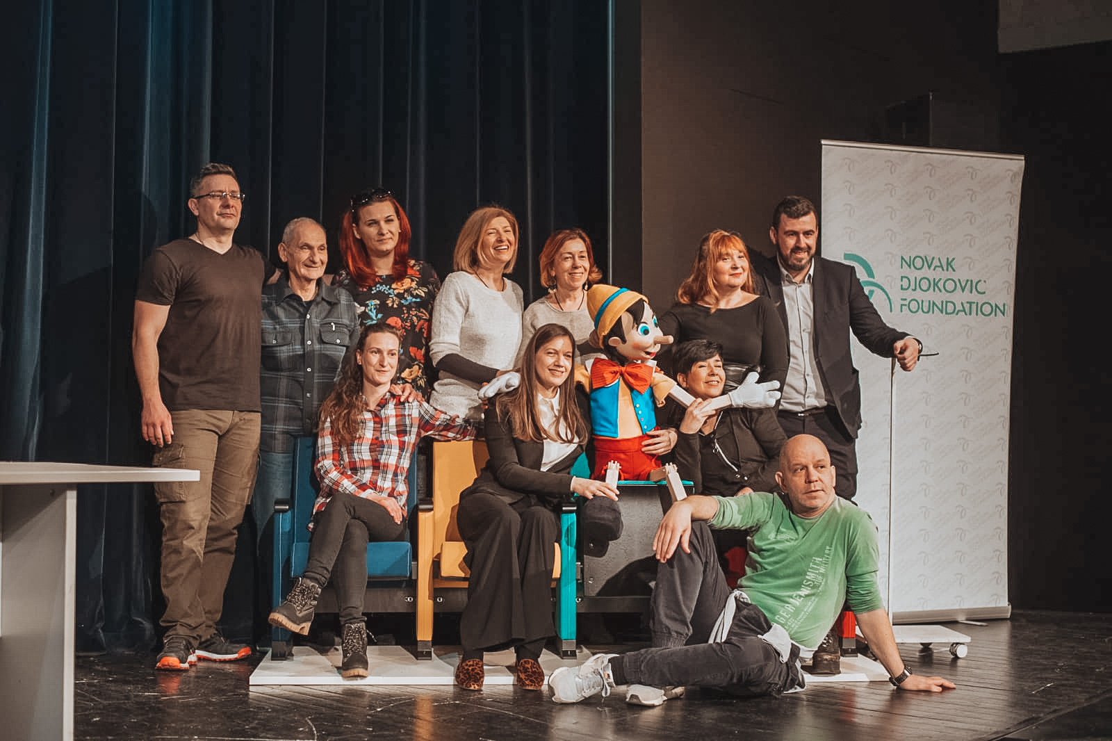 """""""Theatre is a unique experience for children, and adults have to act responsibly towards the children who otherwise may never go to the theatre without their assistance. This is why we are happy we can make children dream and believe in their dreams through this donation, as this is the only way for them to achieve big goals,"""" says Maja Kremic, our National director."""