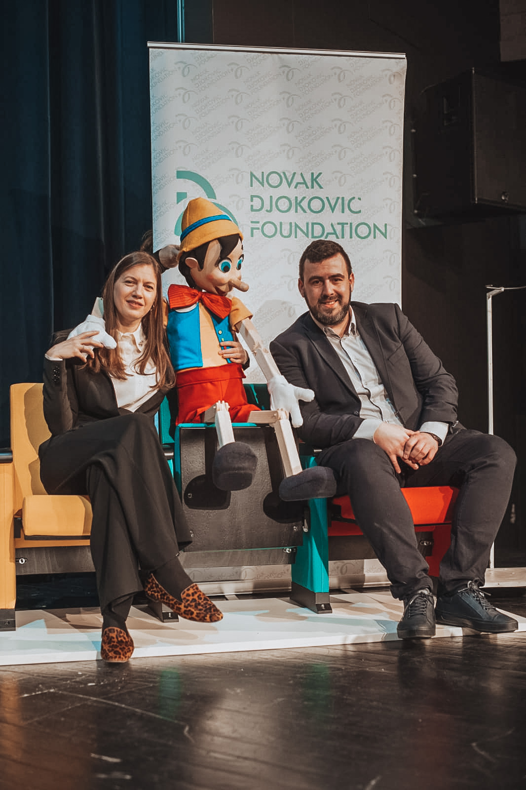 """I am grateful to Novak Djokovic Foundation, its founder, its director and employees, who recognized this institution as suitable for their donation. By installing these seats, we will make our institution more available to the youngest audience, who are the reason why we exist,"""" Djurkovic pointed out."""