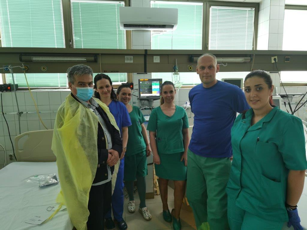The General Hospital Ćuprija received five patient monitors for monitoring the patients' condition.