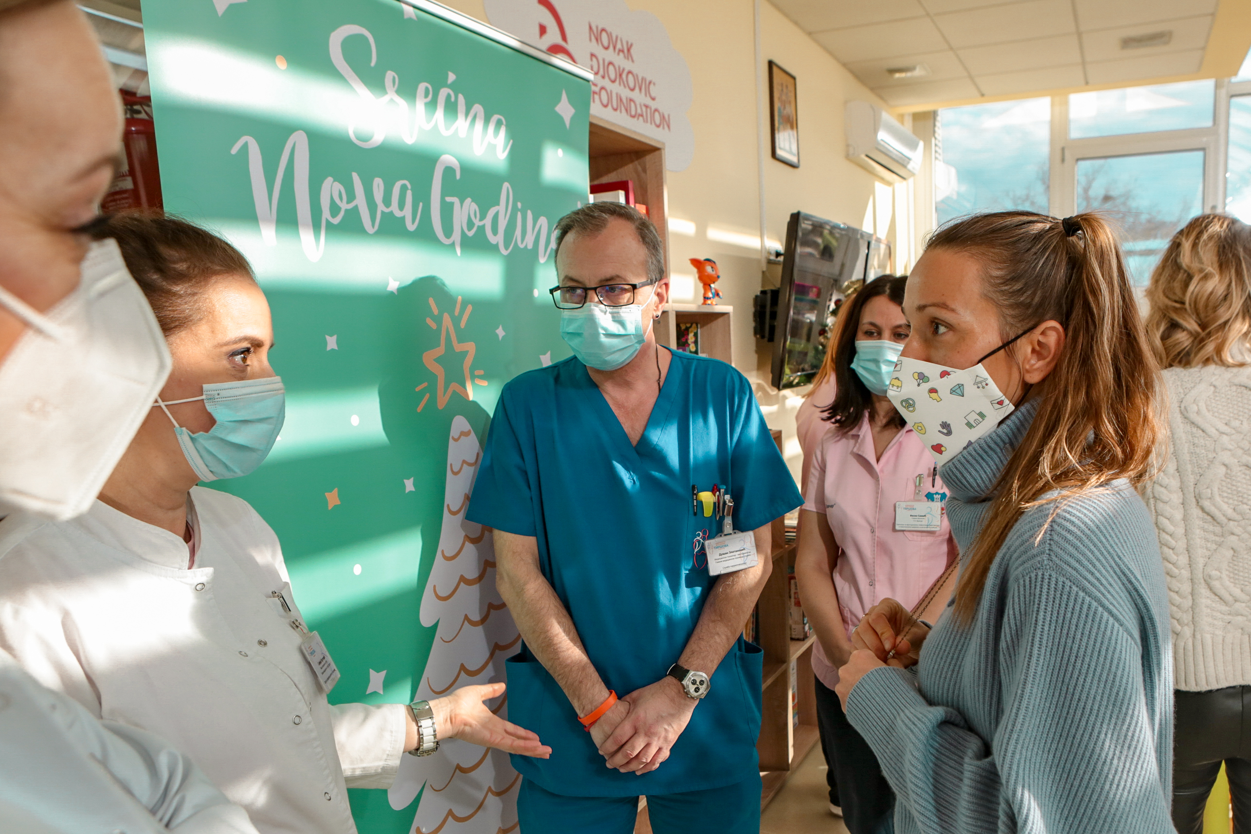 The doctors explained to Jelena how will the new space at children's hospitals be used to fulfill the children's time.