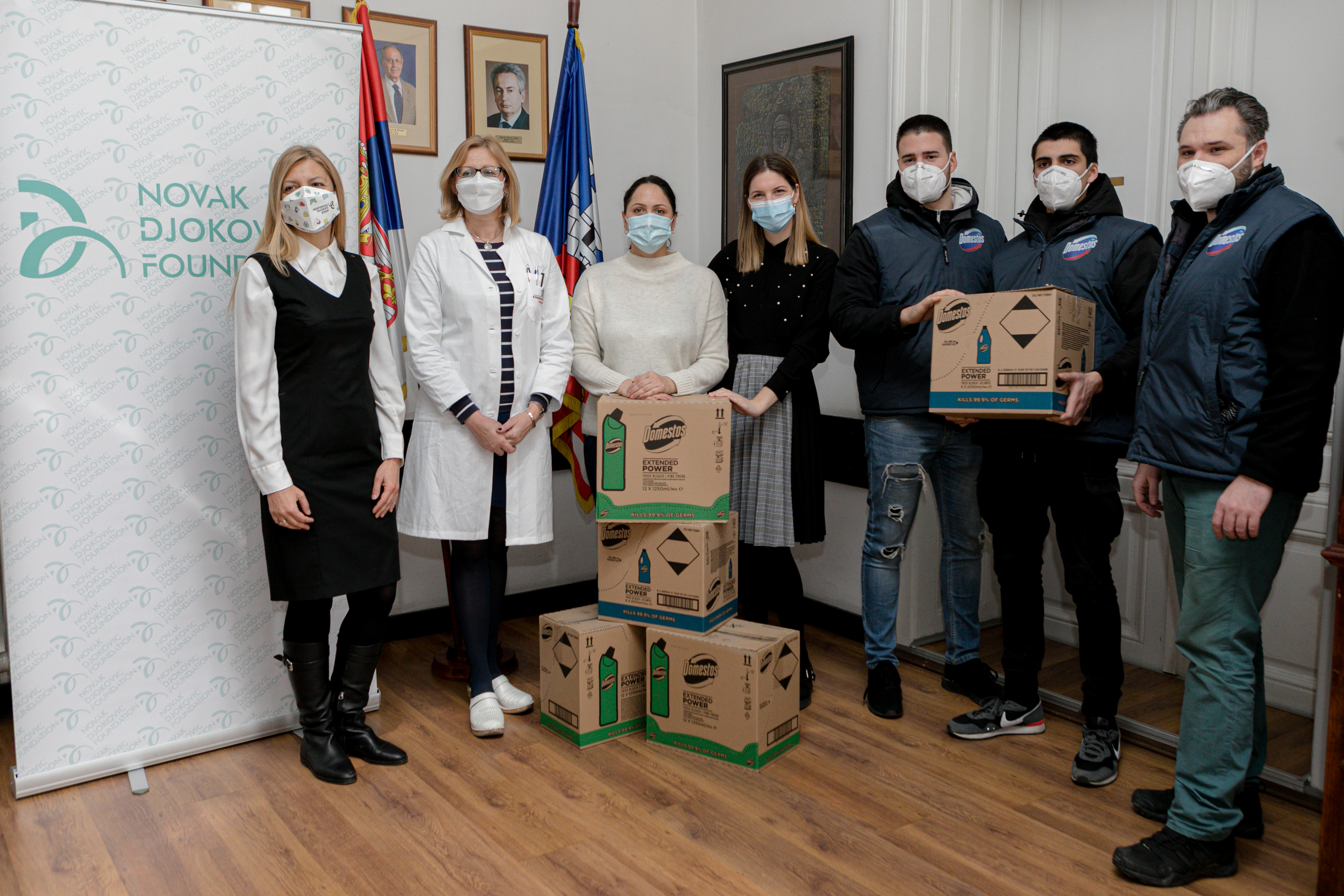 The donation of 16,400 liters of Domestos products was distributed to hospitals throughout Serbia according to their priorities and needs.
