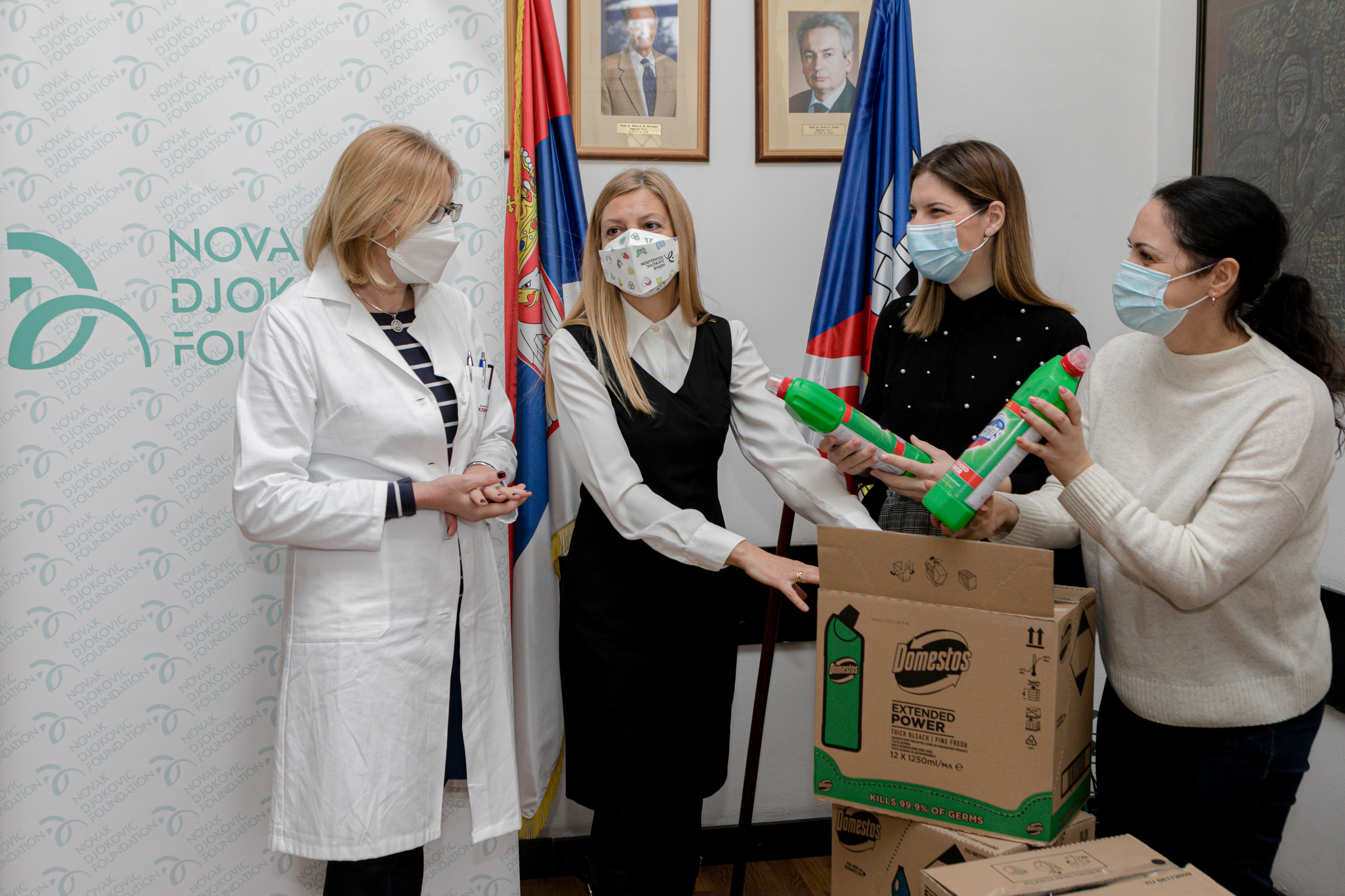 Twenty hospitals in Serbia received support.