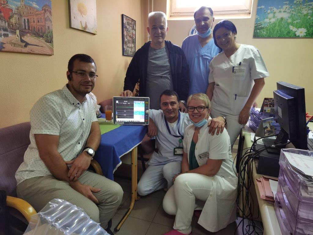 The Studenica General Hospital in Kraljevo received five patient monitors for monitoring the patients' condition.