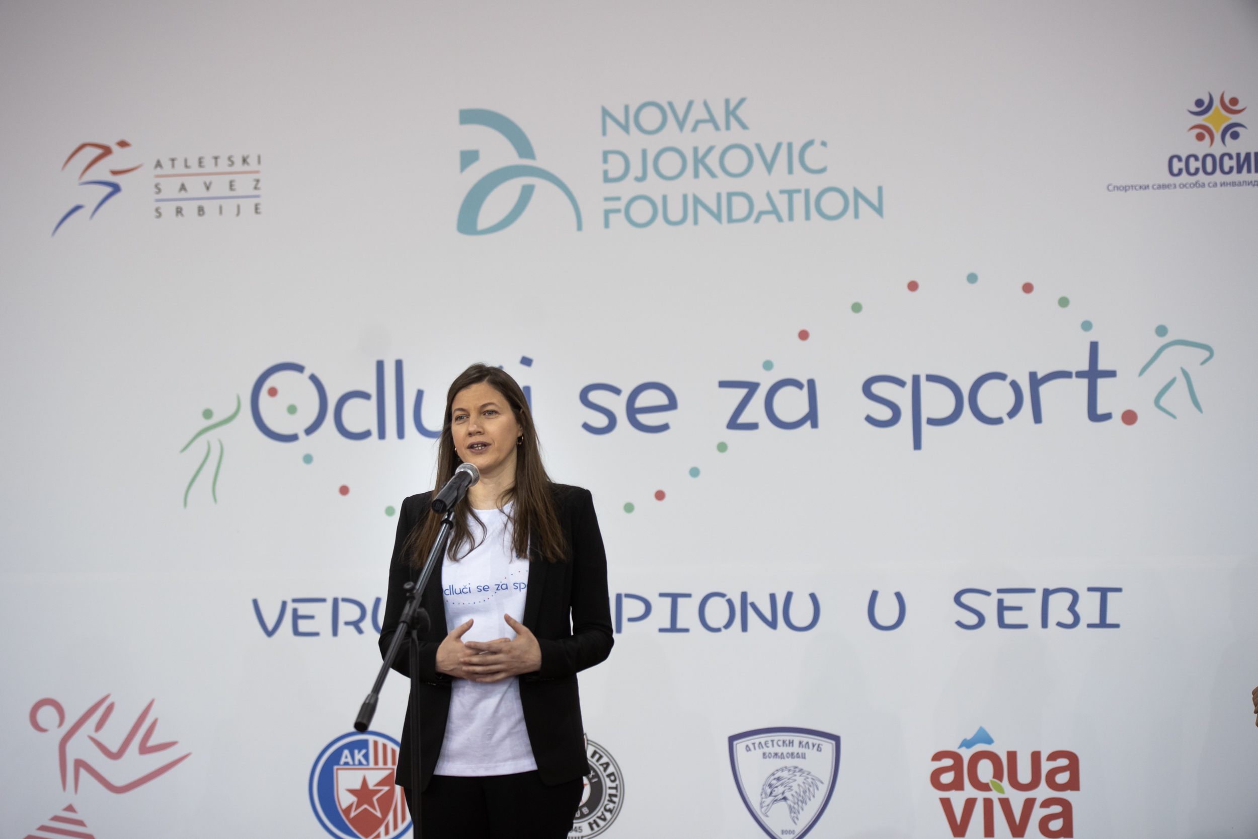 The national director of the Foundation, Maja Kremic, shared in her speech the support of our co founder Novak Djokovic