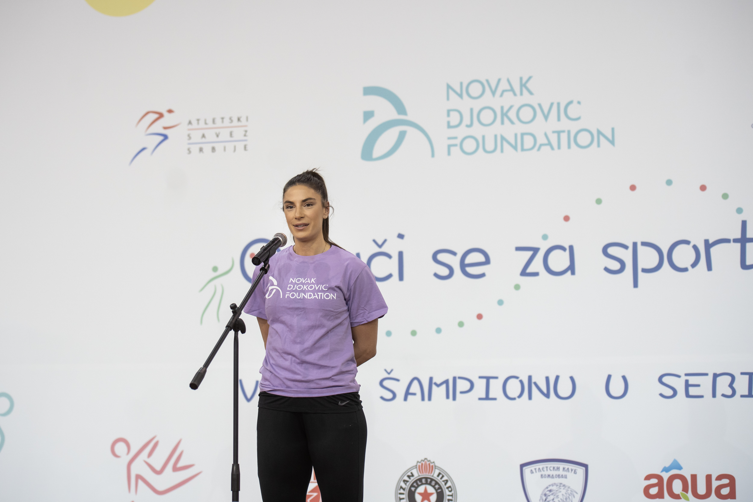 The best Serbian athlete and the World long jump champion opened up the event held in the Athletic arena.