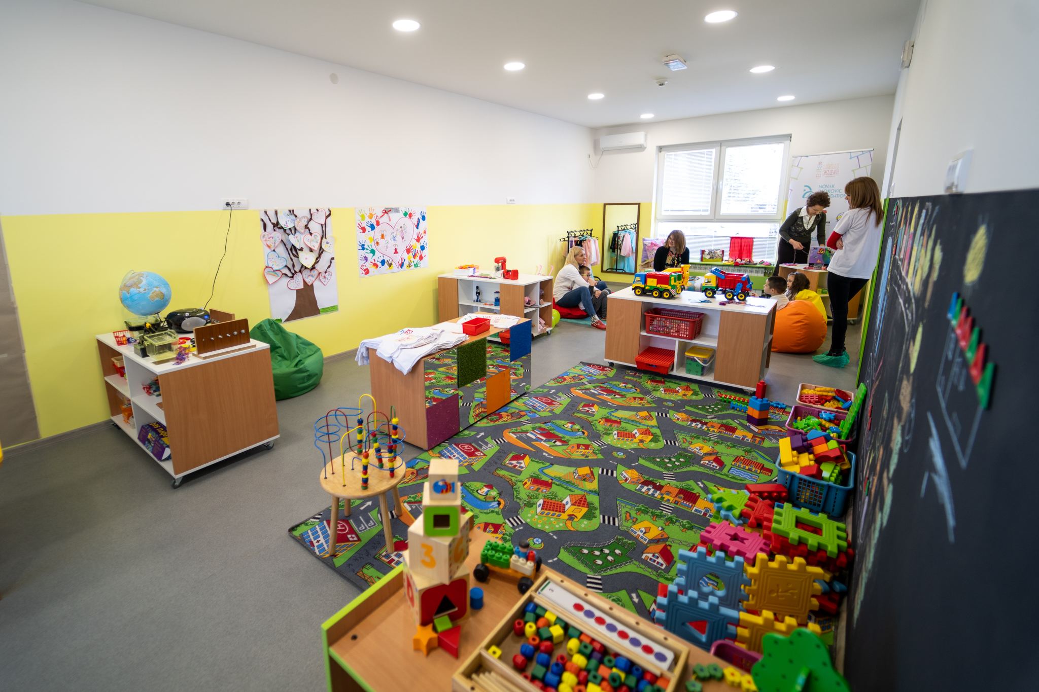 We have invested more than EUR 86.000 in the reconstruction and refurbishment of the pre-school building.  The School of Life has been opened in partnership with the municipality of Indjija.